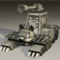 cat tank cute vehicle 3d model