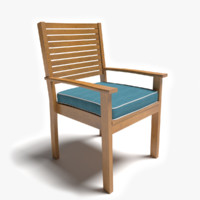 3d model of patio chair