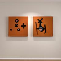 contemporary art canvas wall 3d model