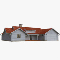 3d model of single family house