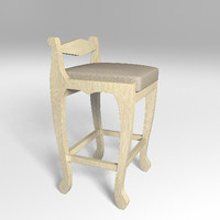 bar chair 3d max