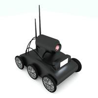 3d robot mech scout model