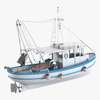 3ds max fishing boat