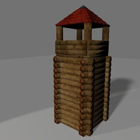 3d defence tower model