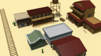3d model of street old west