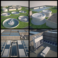 Water and Sewage Treatment Plants (3ds Max 2013)