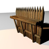 wall defence 3d model