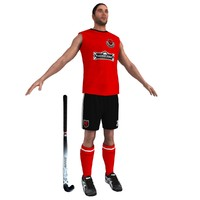 3ds max field hockey player 2