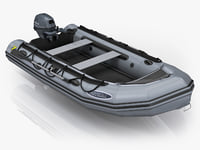 3ds max inflatable boat zodiac mark-2