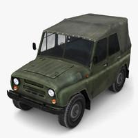 low-poly uaz 469 3d max
