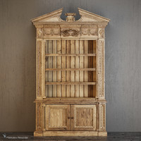 entablature bookcase cabinet 3d model