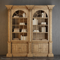 palladian salvaged pine library obj
