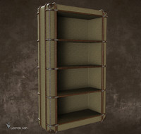 3d model richards canvas bookcase s