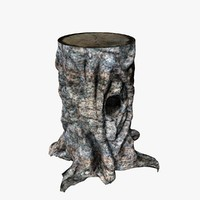 3d tree stump