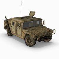 military hummer humvee 3d max