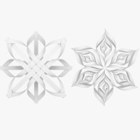 Origami Snowflake Collection V1