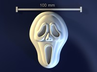 scream skull mold 3d model