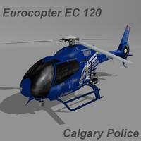 3d x eurocopter ec-120 calgary police