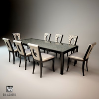3d model visionnaire kudrun dining table