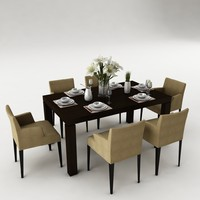 3ds dining set table