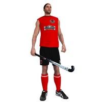 rigged field hockey player max