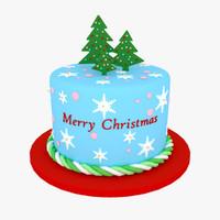 christmas cake v1 3d max