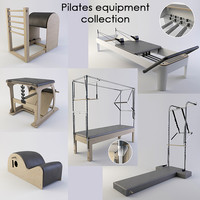 pilates equipment 3d max