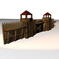 3d model of medieval defence