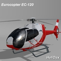 eurocopter ec-120 helidax 3d model