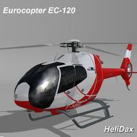 3d max eurocopter ec-120 helidax