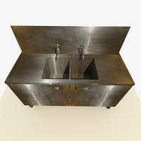 3d old sink model