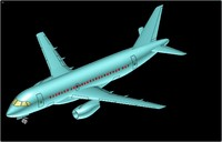 Sukhoi S100 SuperJet Aircraft Solid Assembly Model