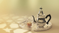 3d traditional moroccan teapot