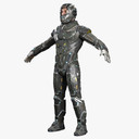 futuristic soldier 3D models