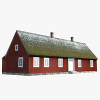 cottage red 3d model