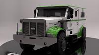 armored truck 3d c4d