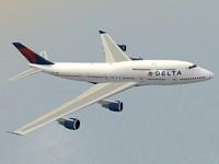 boeing 747-400 delta air lines obj