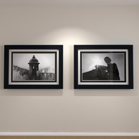 3d framed art dual matte model
