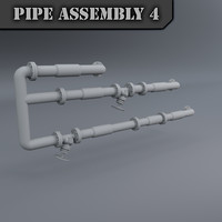3d max pipe assembly