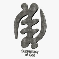 3d supremacy god symbol model