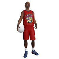 rigged basketball player ball max