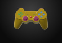 gamepad sony 3d model