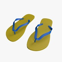 cinema4d beach flip flops