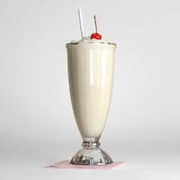 milkshake milk 3d max