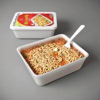 3d instant noodle model