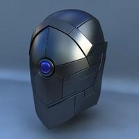 3d model robot head g