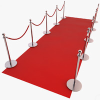 red carpet 3d max
