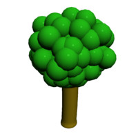maya cartoon tree