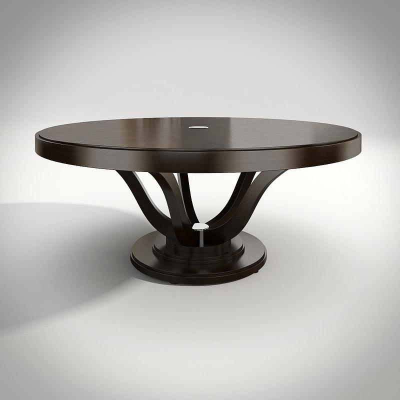 3d model philipp selva dining table. Black Bedroom Furniture Sets. Home Design Ideas