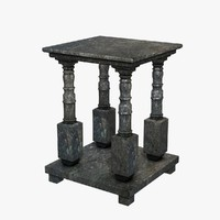 stone table 3d dxf